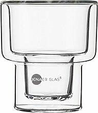 Jenaer Glas Becher, Glas, transparent, 21.8 x 14.4