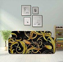JEOLVP Retro Beautiful Wisteria Vine Flower Sofa