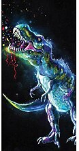 Jerry Fabrics Dinosaurier Farbe Strand Handtuch