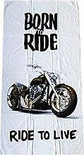 Jerry Fabrics JF Handtuch mit Motiv Motorbike Born