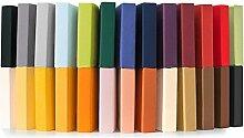 Jersey Spannbettlaken 90x200 - 100x220 cm für Boxspringbetten, Wasserbetten und herkömmliche Matratzen, Spannbetttuch 100% Mako-Baumwolle Qualität Relax CelinaTex 0001901 zitronen gelb