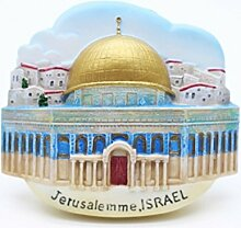 Jerusalem Israel Jesus Souq City 3D Resin TOY Fridge Magnet Schiff frei