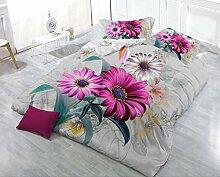 Jessie & Elf je Blumen 3Bettbezug-Set King Size