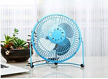Jessie & Letty Büro USB Mini Lüfter Tisch Mignon Blume Desktop-Fan Power Laptop Tisch Ventilator mit USB und Funktionen Akku (grün)