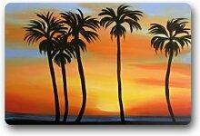 jesspad Vintage Tropical Hawaii Palme Coral Samt