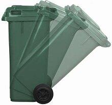 JESTIC Mülltonne Abfalltonne Reststofftonne 120L