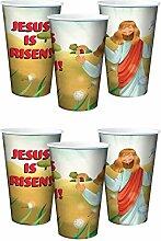 Jesus is Risen! Kunststoffbecher für Ostern, 295