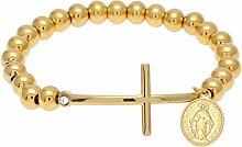 Jesus Kreuz Perlenarmband Hip-Hop-Armband