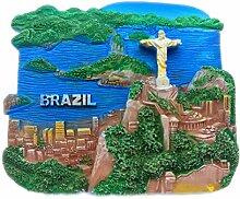 Jesus Rio Brasilien 3D Kühlschrank