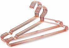 Jetdio 45 cm starke Metall Draht Kleiderbügel Kleiderbügel Kleiderbügel, Kleiderbügel, Standard, Metall Kleiderbügel, 20 Stück, Rose Gold