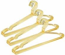 jetdio 45cm starke Metall Draht Kleiderbügel Kleiderbügel Kleiderbügel, Kleiderbügel, Standard, Metall Kleiderbügel, 30Stück, gold