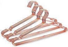 jetdio 45cm starke Metall Draht Kleiderbügel Kleiderbügel Kleiderbügel, Kleiderbügel, Standard, Metall Kleiderbügel, 30Stück, Rose Gold