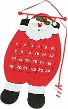 Jeteven 24 Adventskalender Wand Weihnachtskalender