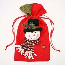 Jeteven 37x20cm Weihnachtssack Weihnachtsgeschenk