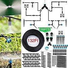 Jeteven 40M Bewässerungssystem Garten,189Pcs