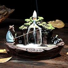 Jeteven Keramik Räucherstäbchenhalter Rückfluss
