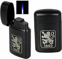 Jetflamme-Feuerzeug - Sturmfeuerzeug Metal black
