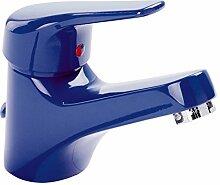 Jetmix Waschtisch-Einhandmischer | Waschbecken Wasserhahn | Badarmatur | Blau