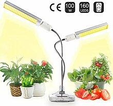 JEVDES Pflanzenlampe für Zimmerpflanzen, 100W