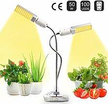 JEVDES Pflanzenlampe für Zimmerpflanzen, 50W Grow