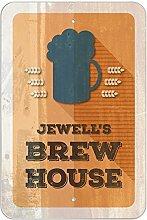 """Jewell 's Brew House–hausgebrautem Bier Bar Pub Club Kunststoff Schild, plastik, 12"""""""" x 18"""""""" (30.5cm x 45.7cm)"""