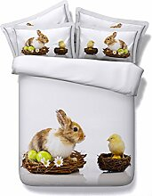 JF-059 Festival Serie Ostern Hase huhn eier Steppdecke set Kinder Erwachsene sowohl zur Verfügung King Betten