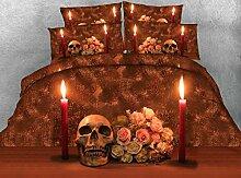 JF-223 einzigartiges Schlafzimmer Kerze Rose und Totenkopf bed se