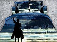 JF-273 klassische Elemente Cowboy drucken Bettdecke voll Königin cal king size Couverture de lit Bettwäsche