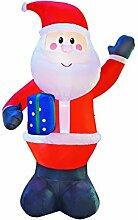 JF deco 3m Aufblasbarer Weihnachtsmann