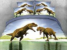 JF043T-REX Dinosaurier drucken Kinder Einzelbett nach Königin Super King size Tröster Betten 5 pcs setz