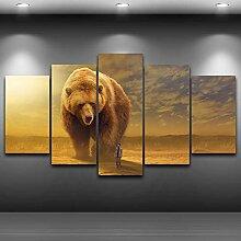 JFASJK 5 Gemälde auf Leinwand Modern Wall Art