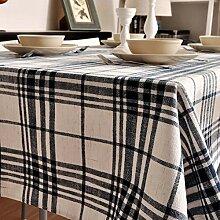 JFFFFWI Baumwolle Stil Tischdecke, quadratische