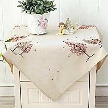 JFFFFWI Bestickte kleine Tischdecke, Nachttisch