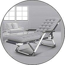 JFFFFWI Grauer Relaxsessel, mit Baumwollkissen und