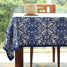 JFFFFWI JFFWI Tischdecke aus Baumwolle, Stoff,