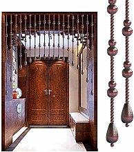 JFFFFWI Perlen Vorhang Holz Perlen Tür Schnur
