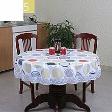JFFFFWI PVC tischdecke,Runde tischdecke für