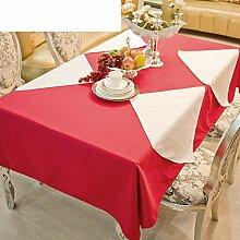 JFFFFWI Runde Tischdecke für Hotels, den Stil von