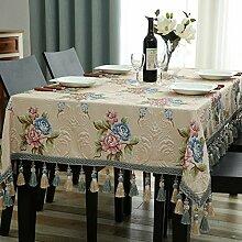 JFFFFWI Tischtuch Tisch Tuch mit europäischen