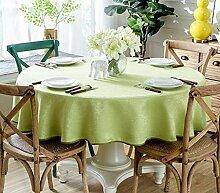 JFFFFWI Tischwäsche Tischwäsche Farbe runden