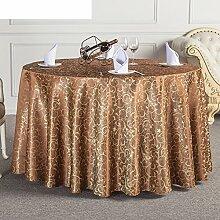 JFFWI Runde Tischwäsche für Hotels, Stoff,