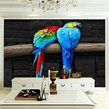 JFSZSD 3D Wallpaper Papagei Fototapete Restaurant