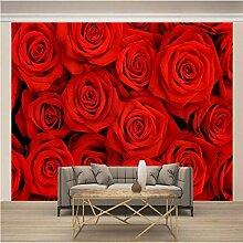 JFSZSD 3D Wallpaper Rote Rosen Fototapete