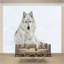 JFSZSD 3D Wallpaper Schnee & Weißer Wolf