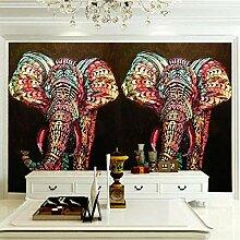 JFSZSD 3D Wallpaper Tiere & Elefanten Fototapete