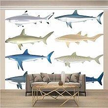 JFSZSD 3D Wallpaper Tiere & Fische Fototapete