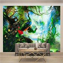 JFSZSD 3D Wallpaper Tiere & Pfauen Fototapete
