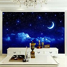 JFSZSD Fototapete Mond & Sternenhimmel Vlies