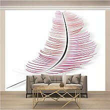 JFSZSD Fototapete Pink & Feder Vlies Leinwandbild
