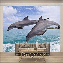 JFSZSD Fototapete Tiere & Delfine Vlies